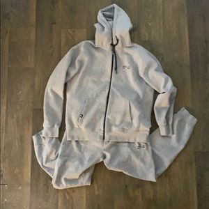 Polo Sport Sweatsuit. Gray Top L, Bottom XL.